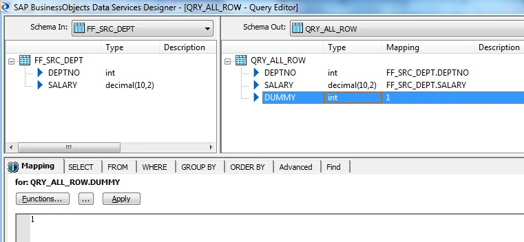 Query -All Rows
